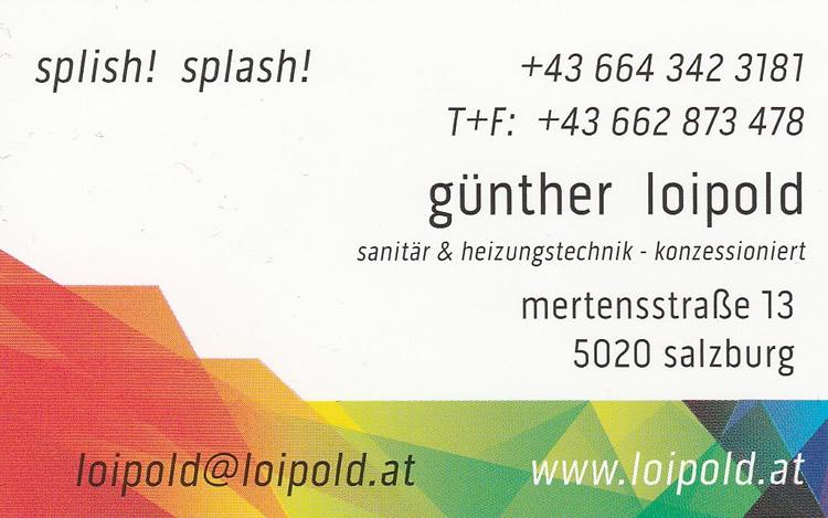 Installateuer Loipold Salzburg